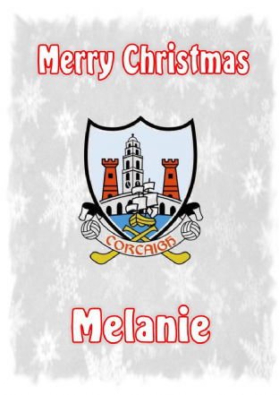 Personalised Cork Crest Christmas Card